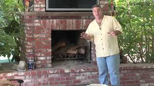 brick outdoor fireplace design youtube