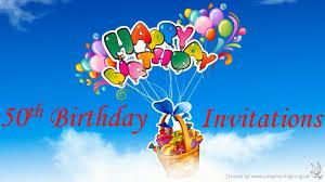 50th birthday invitation wording youtube