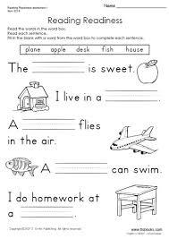 reading kindergarten worksheets worksheets