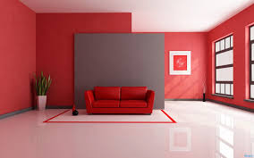 red color ideas for minimalist living room design home interior