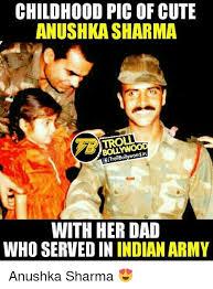 Indian Dad Meme - childhood picofcute anushka sharma troll lettorbollywoodin with