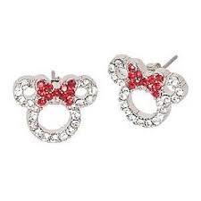 minnie mouse earrings minnie mouse choker via shop raindr0p click on the image to see