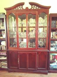 cherry wood china cabinet cherry wood china cabinet furniture in spring hill fl offerup