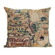 The Hobbit Map The Hobbit An Unexpected Journey Map Of Middle Earth Woven Pillow
