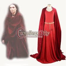 Halloween Game Thrones Costumes Game Thrones Melisandre Red Dress Cosplay Costume Carice Van
