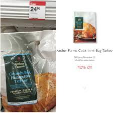 turkey bags archer farms cook in a bag turkey 14 99 sensible shoppers