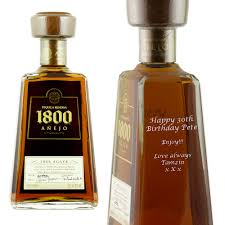 birthday tequila personalised jose cuervo 1800 anejo tequila at prestige drinks
