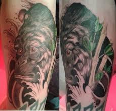 gorilla tattoo by frufru punk on deviantart