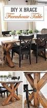 17 best rustic diy farmhouse table ideas and designs for 2017 x brace accent farmhouse table design