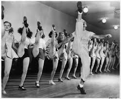 russell merkert rehearsing with the radio city hall rockettes