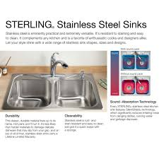Which Kitchen Sink Sterling 11409 Na Mcallister Stainless Steel Undermount Double