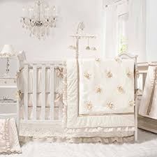 All White Crib Bedding Juliette White Ivory And Gold 5 Baby Crib