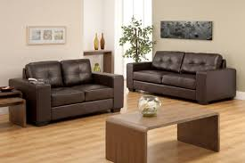 Recliner Sofa Sets Sale by Brown Leather Reclining Sofas And Square Coffee Table In Family