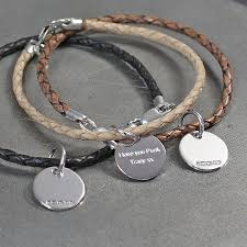 leather bracelet with silver charms images Leather and silver friendship bracelets by hersey silversmiths jpg
