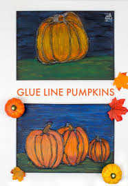 glue resist art project for kids pumpkin mum in the madhouse