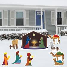 amazon com nativity scene christmas yard decoration set u2013 8 pcs