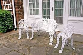 Refinishing Wrought Iron Patio Furniture by Antique Cast Iron Patio Furniture Antique Furniture