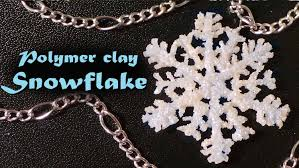 winter snowflake charm polymer clay tutorial