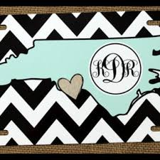 monogrammed plate license plate car tag personalized from chic monogram jeep