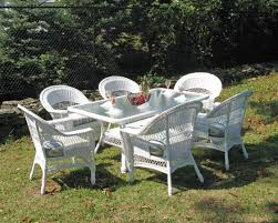 Fake Wicker Patio Furniture - resin wicker dining set