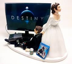 gamer cake topper wedding cake topper destiny gamer xbox one ps4 custom