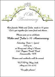 10th year wedding anniversary amusing 10 year wedding anniversary invitations 60 about remodel