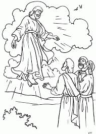 coloring page of jesus ascension the ascension catholic coloring page pentecost religion class