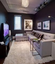 living room narrow basement ideas living room small with tv