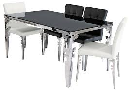chrome dining room sets spacious tables nice dining room table glass on chrome cozynest home