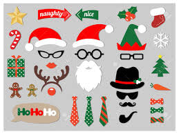 christmas photo booth props christmas photo booth props design elements set royalty free