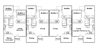 three plex floor plans 4 plex j949 4 plansource inc