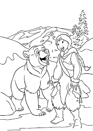 brother bear coloring pages with 2 omeletta me