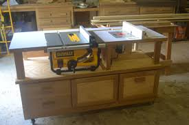 table saw router combo table saw router combo table on casters perfect but no plans