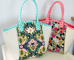 pattern for tote bag with zipper diy fabric basket tote free sewing pattern sewcanshe free