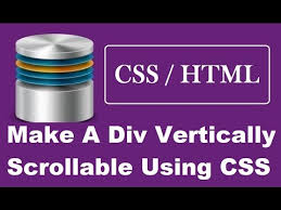 Html Scrollable Table How To Make A Div Vertically Scrollable Using Css Youtube
