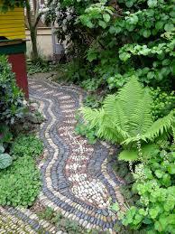 diy pathway ideas stone dust path diy path edging with logs