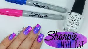 sharpie watercolour nail art youtube