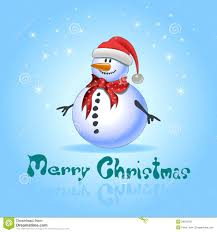 blue greeting cards with christmas snowman stock photo image