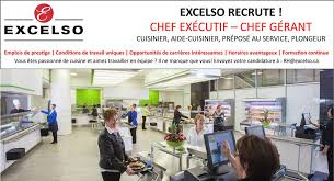 emploi chef cuisine groupe excelso accueil