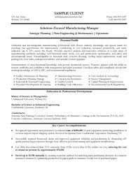 Resume Professional Accomplishments Examples by Manufacturing Manager Resume Example Everything Pinterest