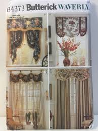 home decorating fabrics window treatments butterick 4373 sewing pattern window valances