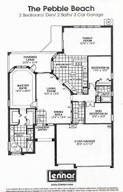 Single Family Homes Floor Plans by Heritage Pines Pebble Beach Floor Plan