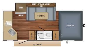 Rockwood Roo Floor Plans Jayco Hummingbird 17rk Travel Trailer Floor Plan