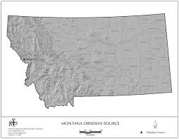 Montana On Usa Map by Obsidian Source Maps United States