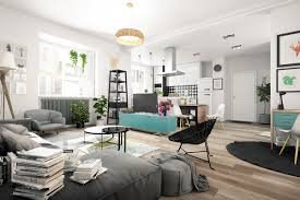 nordic living room interior design bring out a cheerful impression