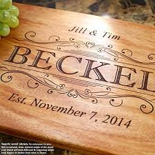 personalized wedding cutting board classic swirl personalized engraved cutting board