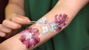 how to make dried flower tattoos youtube