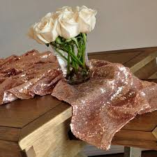 rose gold table runner ships in 1 3 business days sequin table