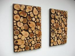 how to make wooden wall decor from wood slices