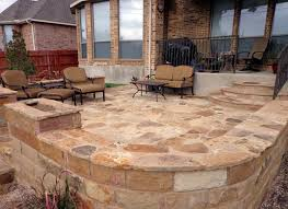 oklahoma flagstone with seat wall greenscapes landscaping atx